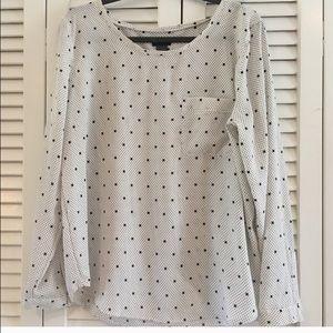 Ann Taylor polka dot blouse. XL